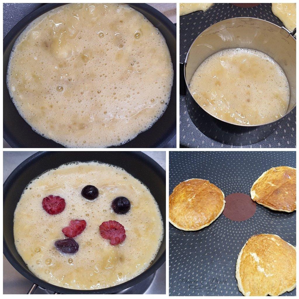 Préparation des pancakes aux 2 ingrédients