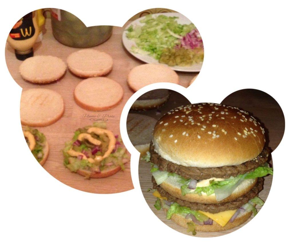 Préparation du Big Mac