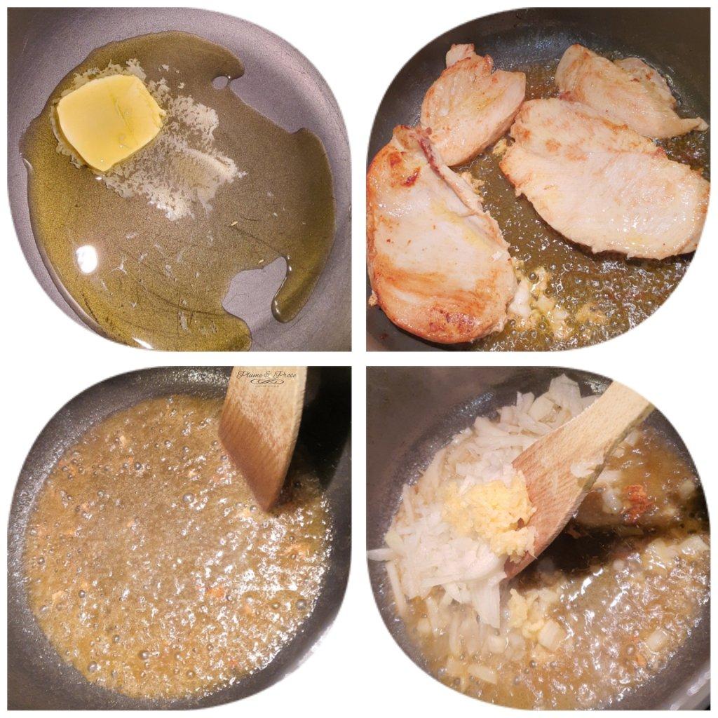 "Préparation des ""Creamy Chicken Fajita Pasta"""