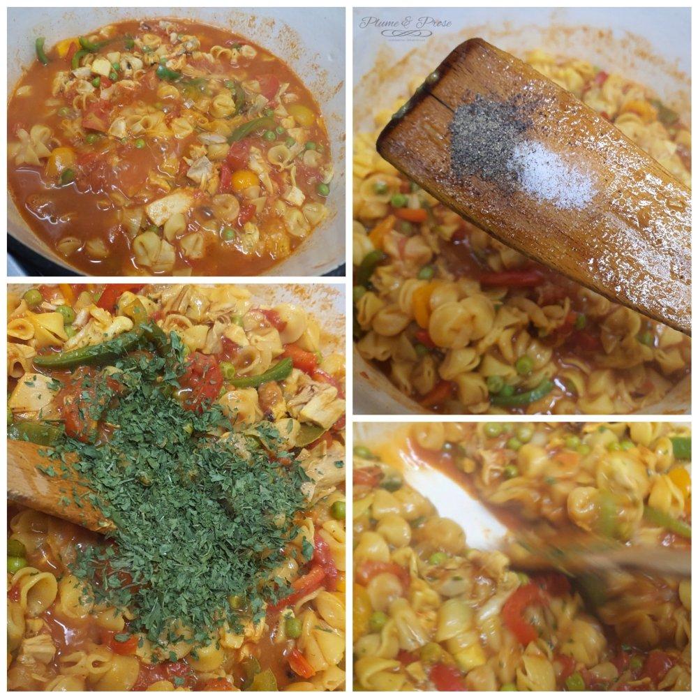 Préparation du One Pot Pasta façon Fideuà