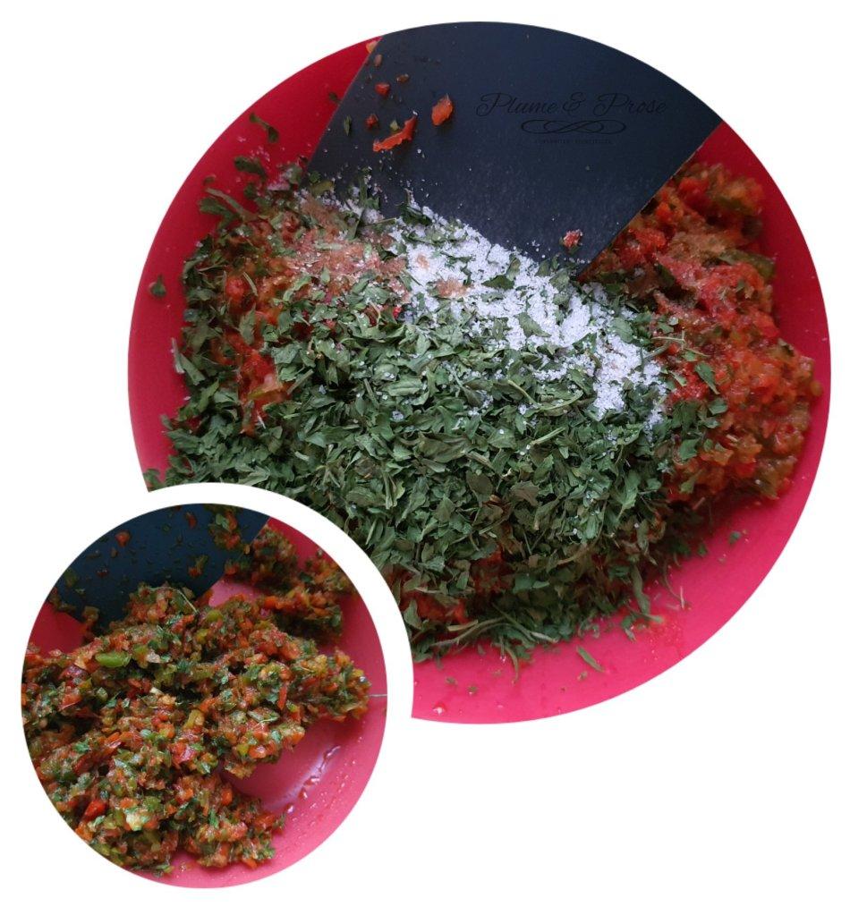 Préparation de la sauce piquante des Caraïbes