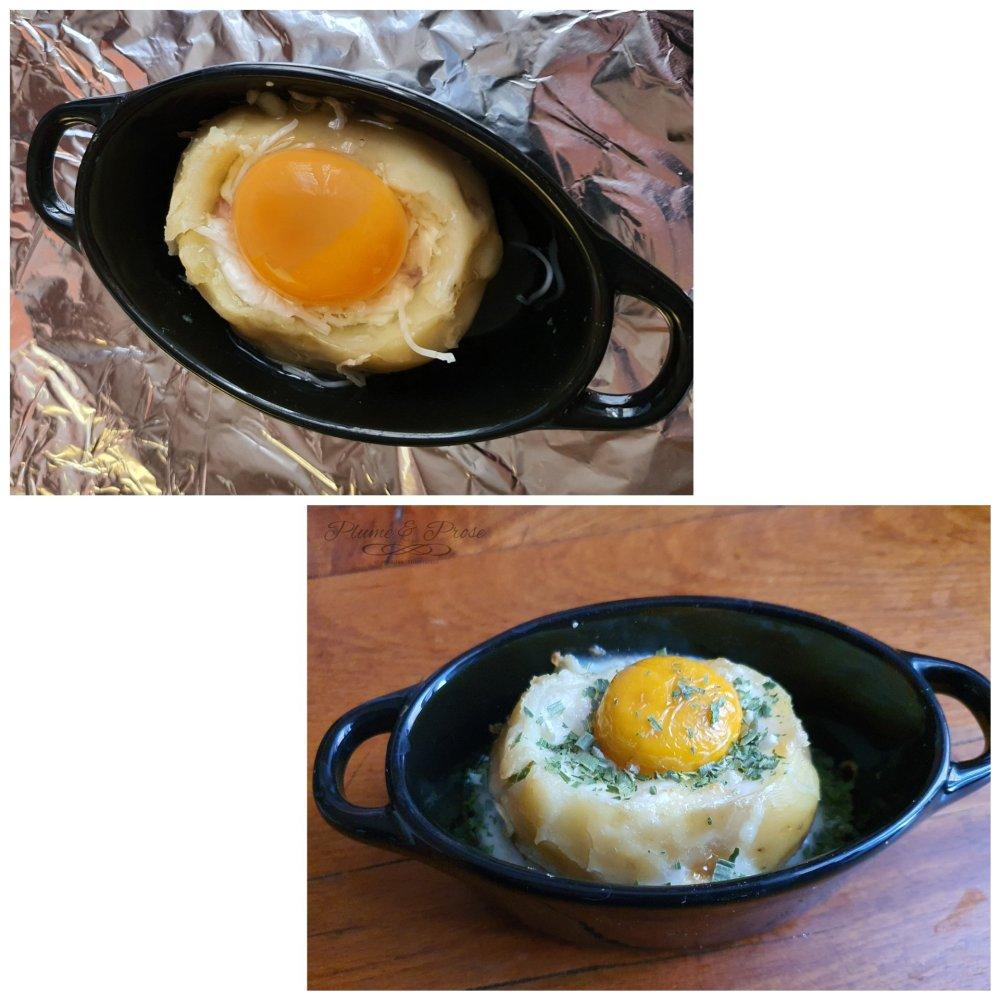 Préparation d'un œuf cocotte