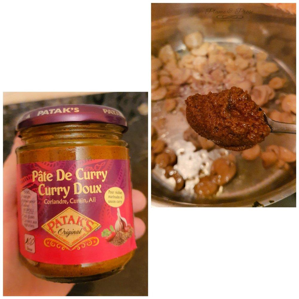 Préparation du curry de haricots