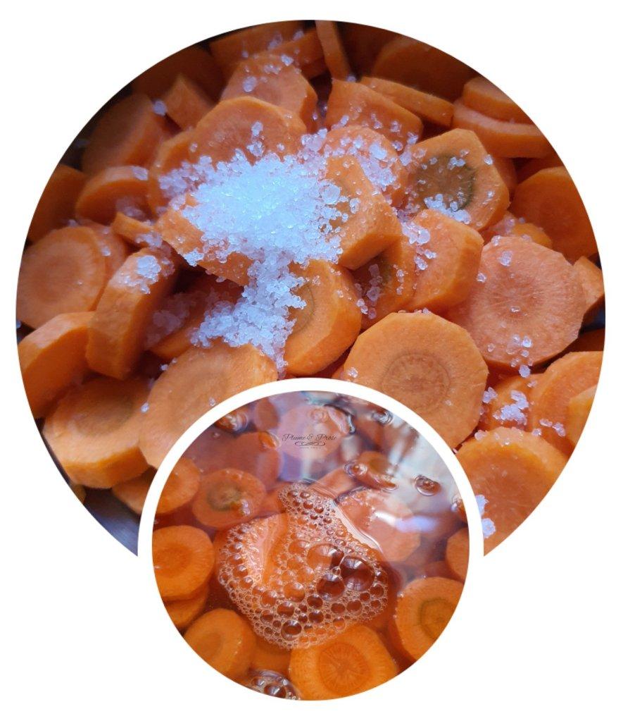 Préparation des carottes à la marocaine