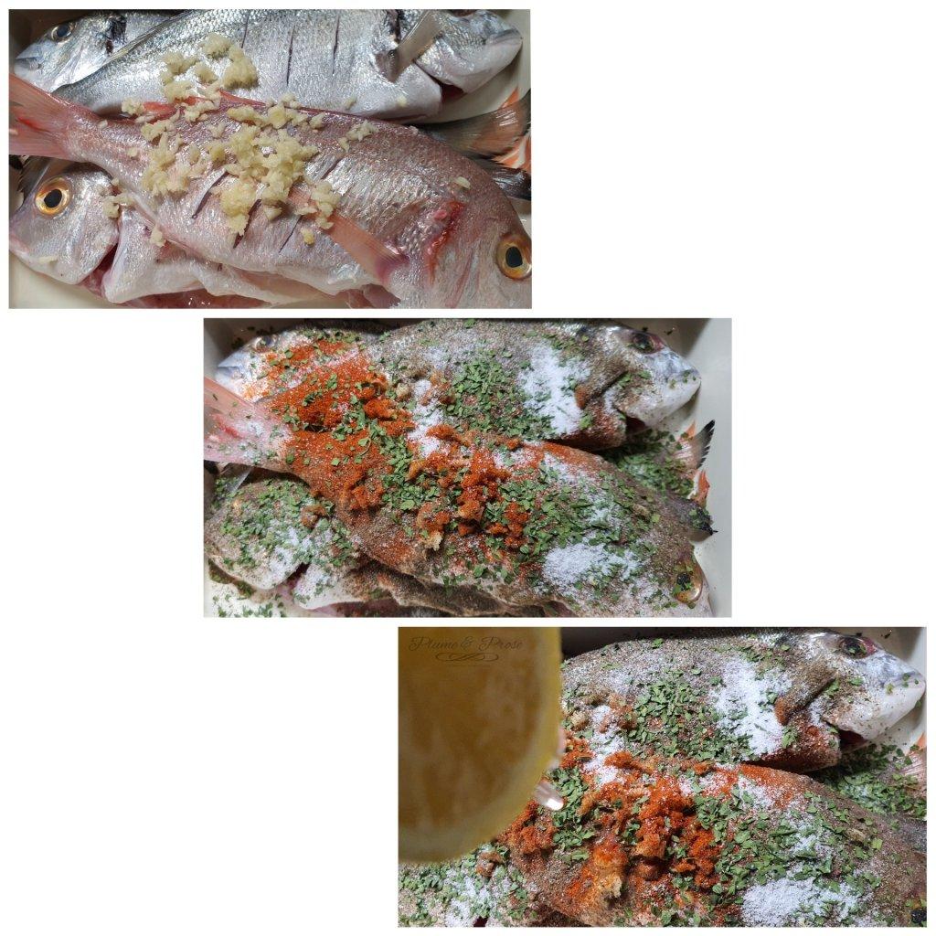 Préparation du poisson braisé