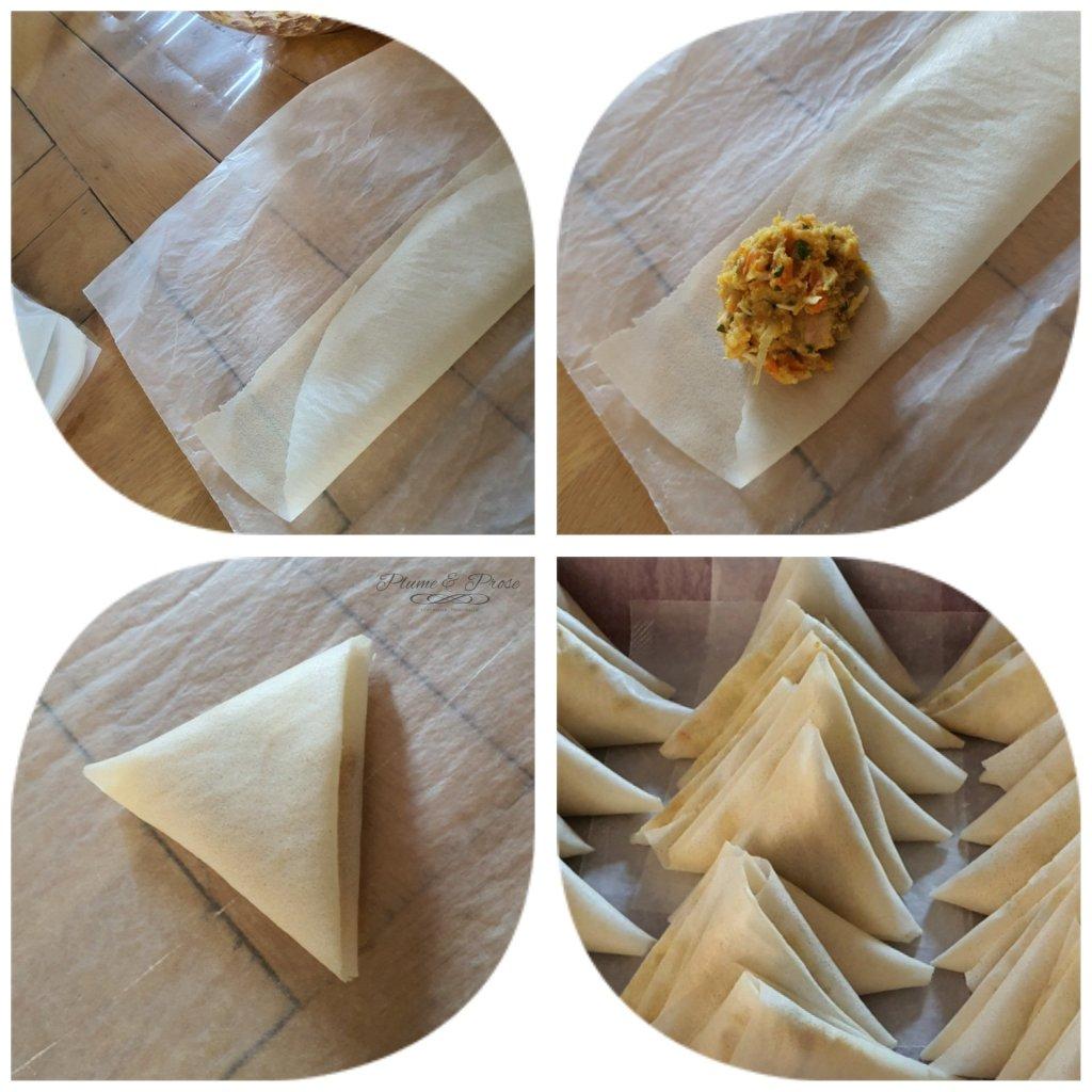 Préparation des bricks au thon à la marocaine