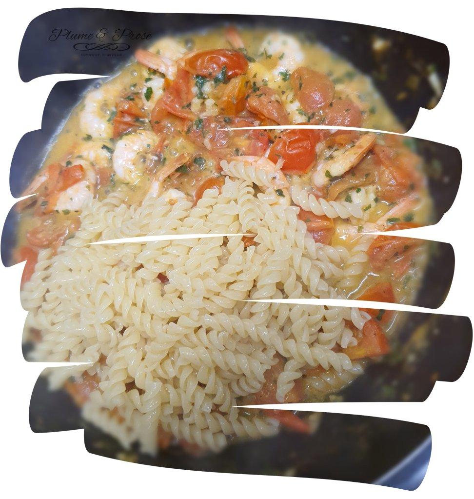 Préparation des Torsettes aux crevettes