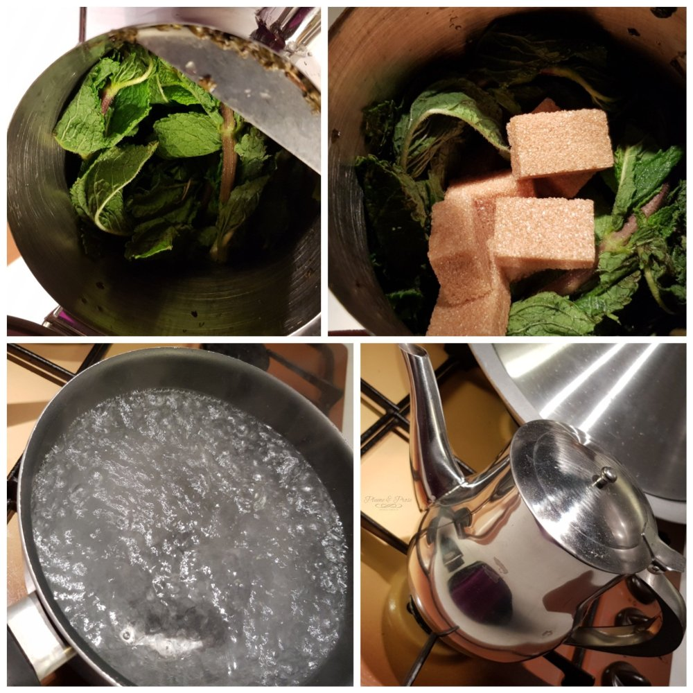 Préparation du thé à la menthe