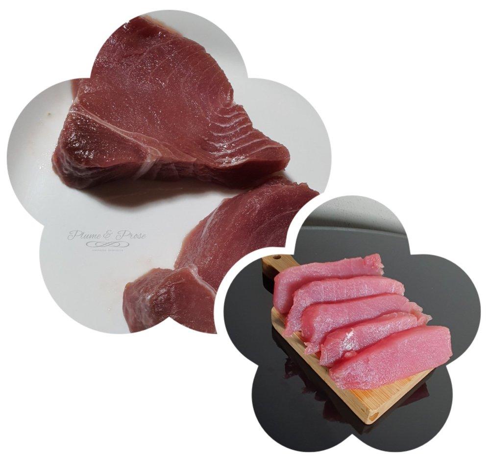 Préparation des sashimi