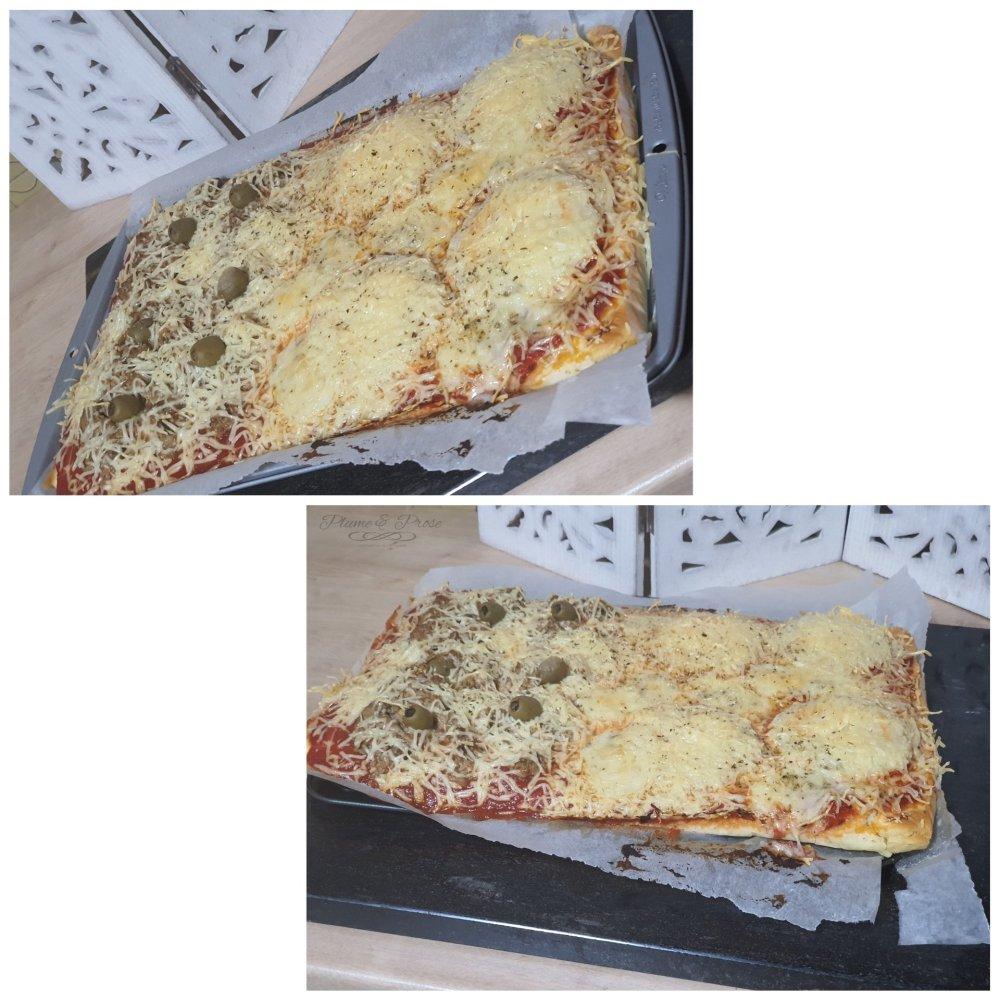 Préparation de la pizza liquide