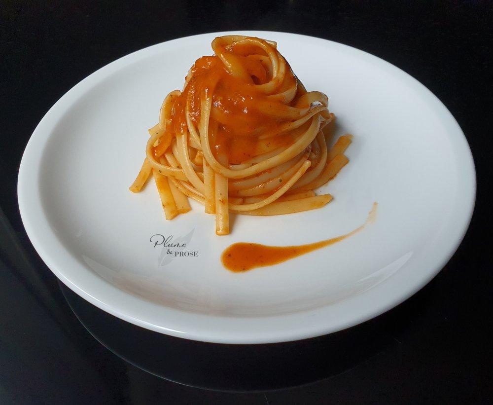 Envolez-vous vers l'Italie avec ces Linguine sauce poivron