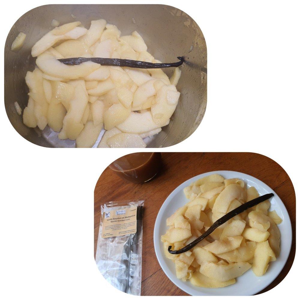 Préparation de la charlotte pommes-caramel