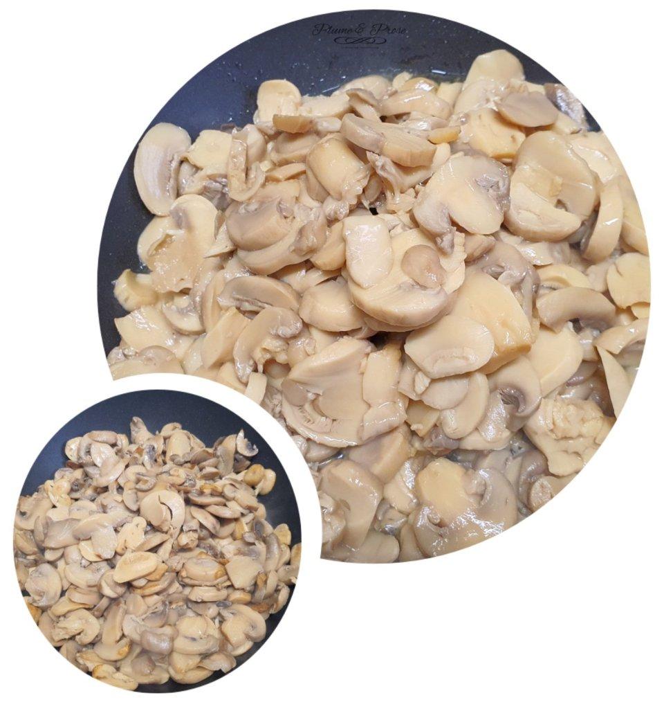 Préparation du ragoût de champignons