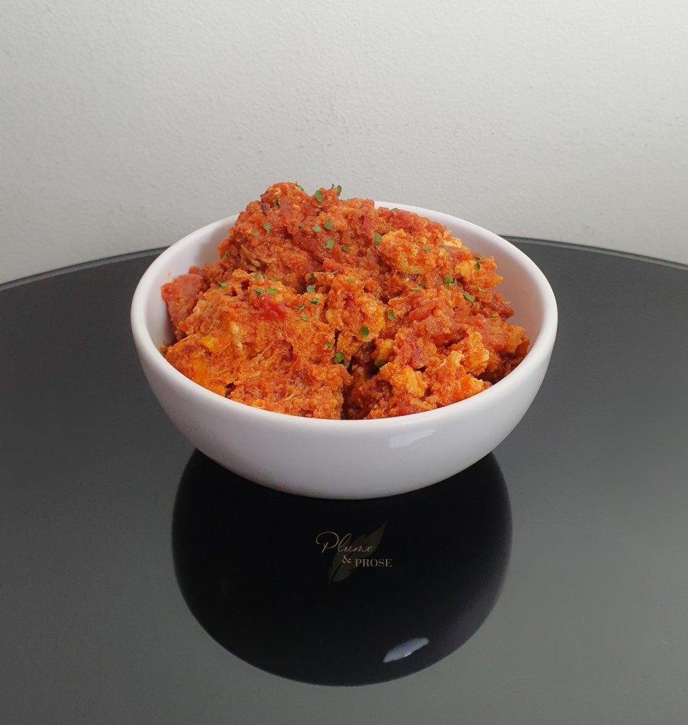 """""""Pomidor Çığırtması"""" ou l'Omelette aux tomates azerbaïdjanaise"""