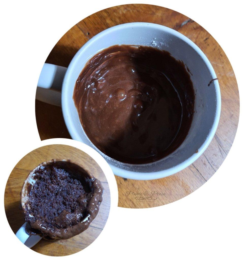 Préparation du Mugcake au Nutella