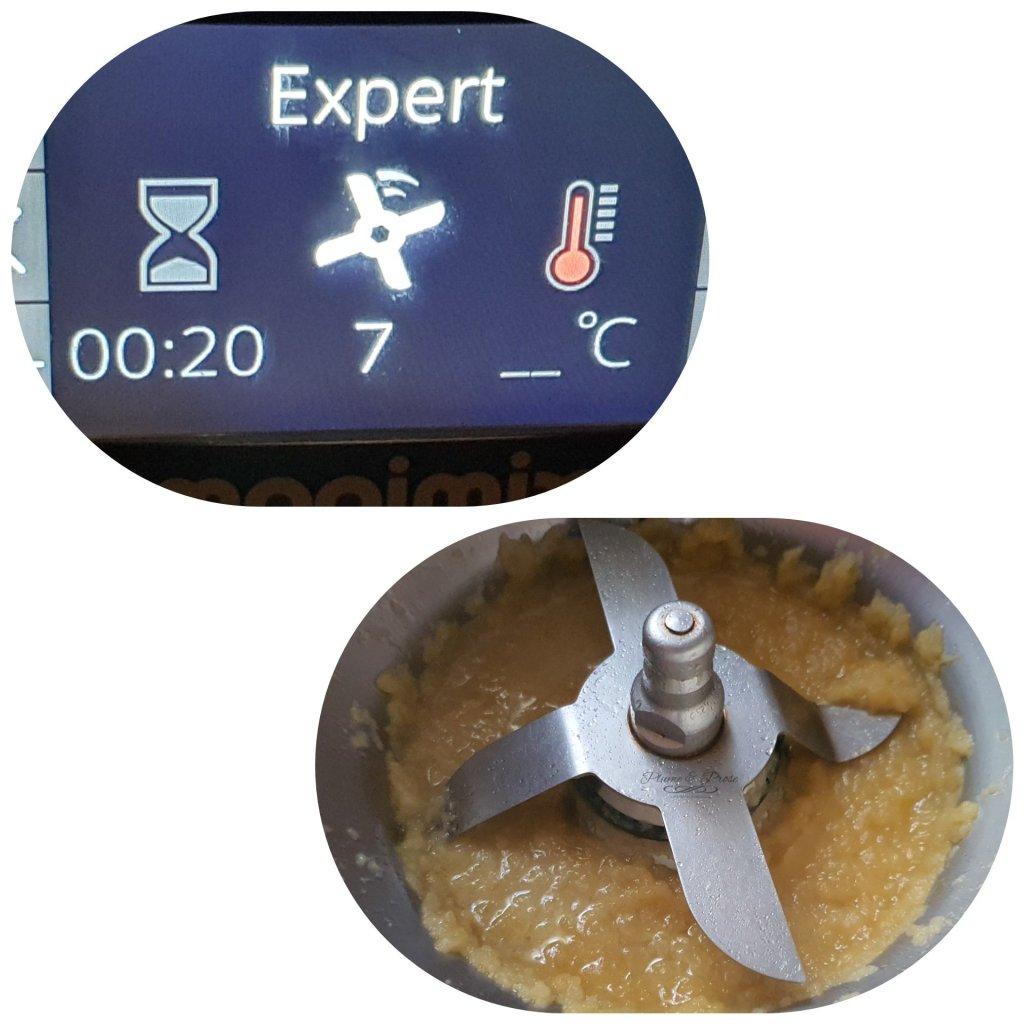 Préparation du beurre de pomme