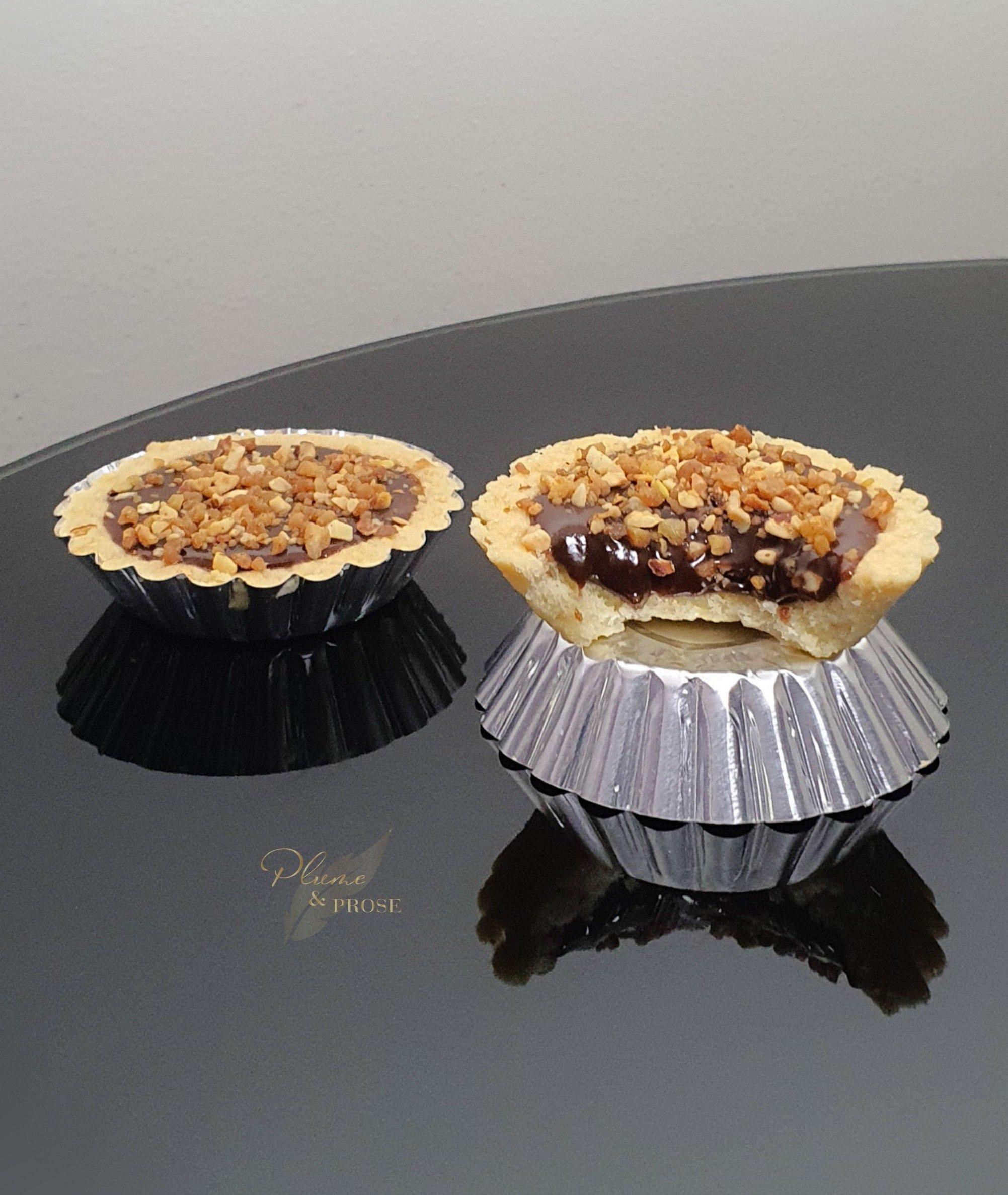 Laissez-vous tenter par ces Tartelettes au Praliné et éclats de Pralin