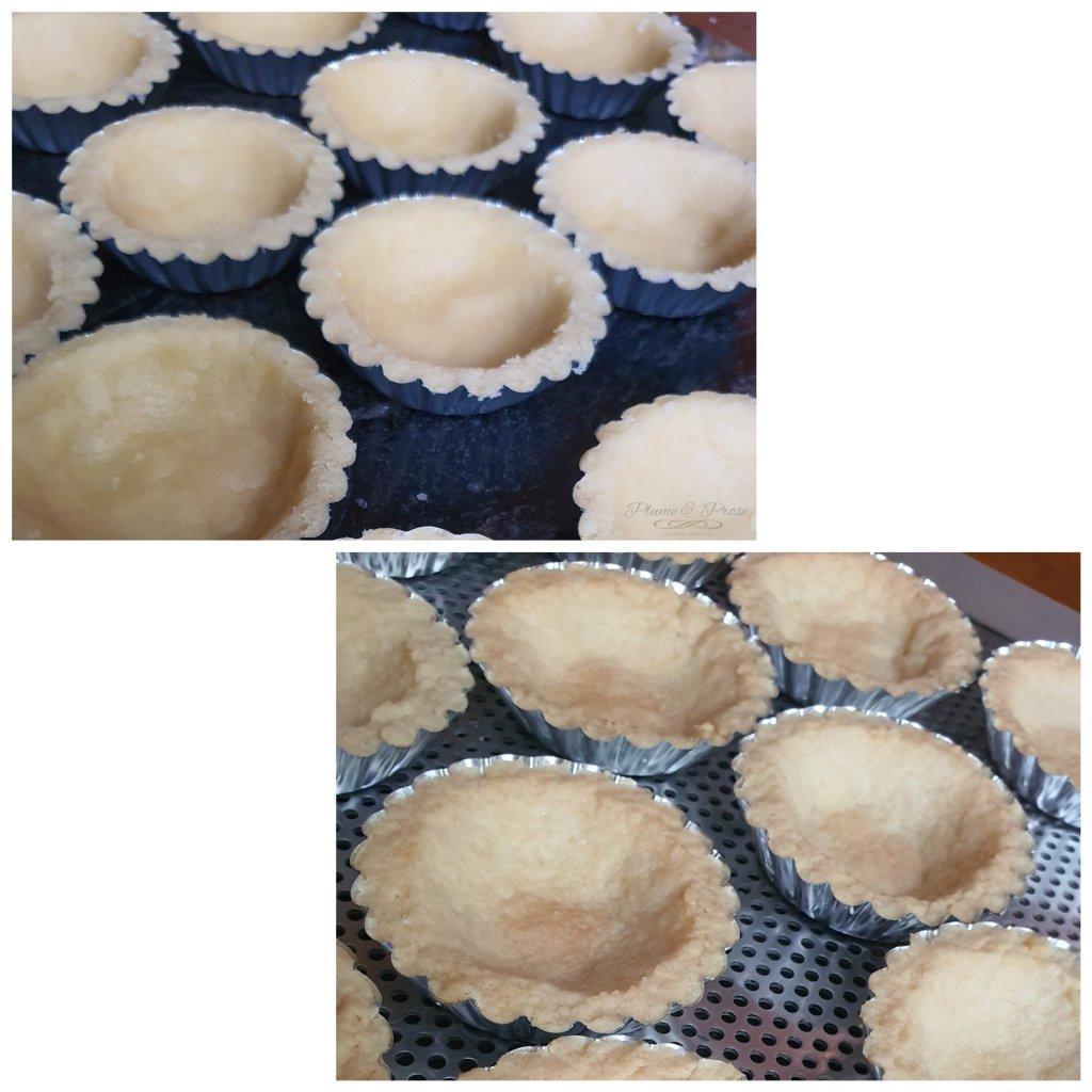 Préparation des Tartelettes au chocolat praliné et aux éclats de pralin