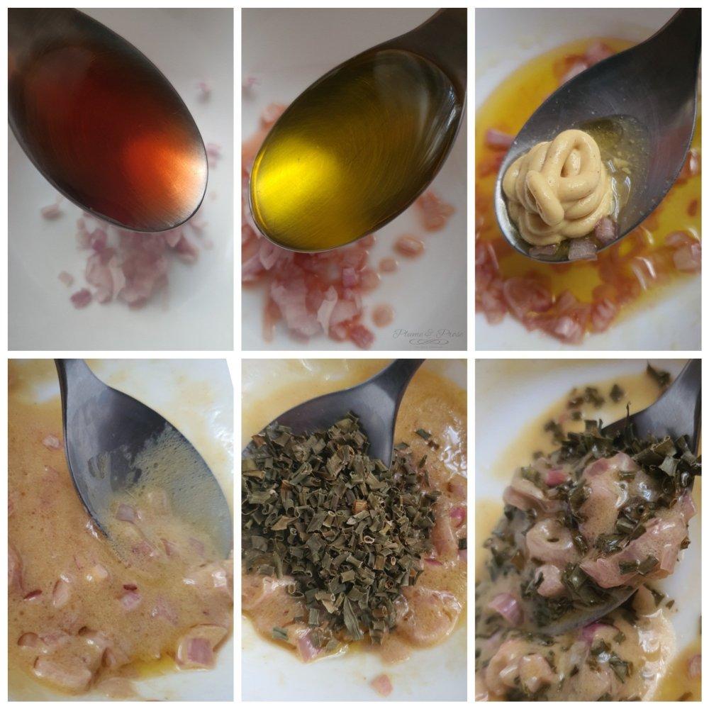 Préparation de le salade de Pommes de terre au Saumon