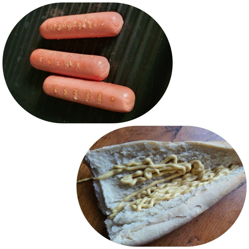 """Préparation du """"Sanduiche de Salsicha"""" ou le Sandwich à la saucisse, tout simplement"""