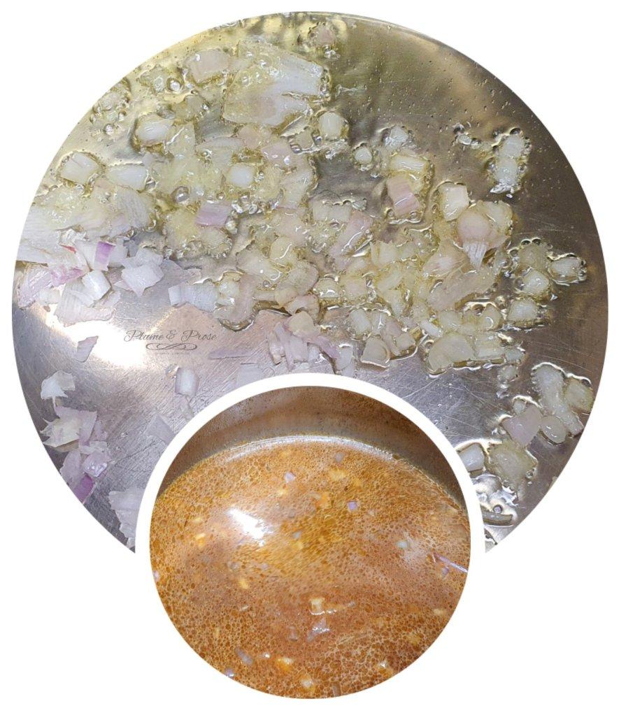 Préparation du riz rouge guamanien