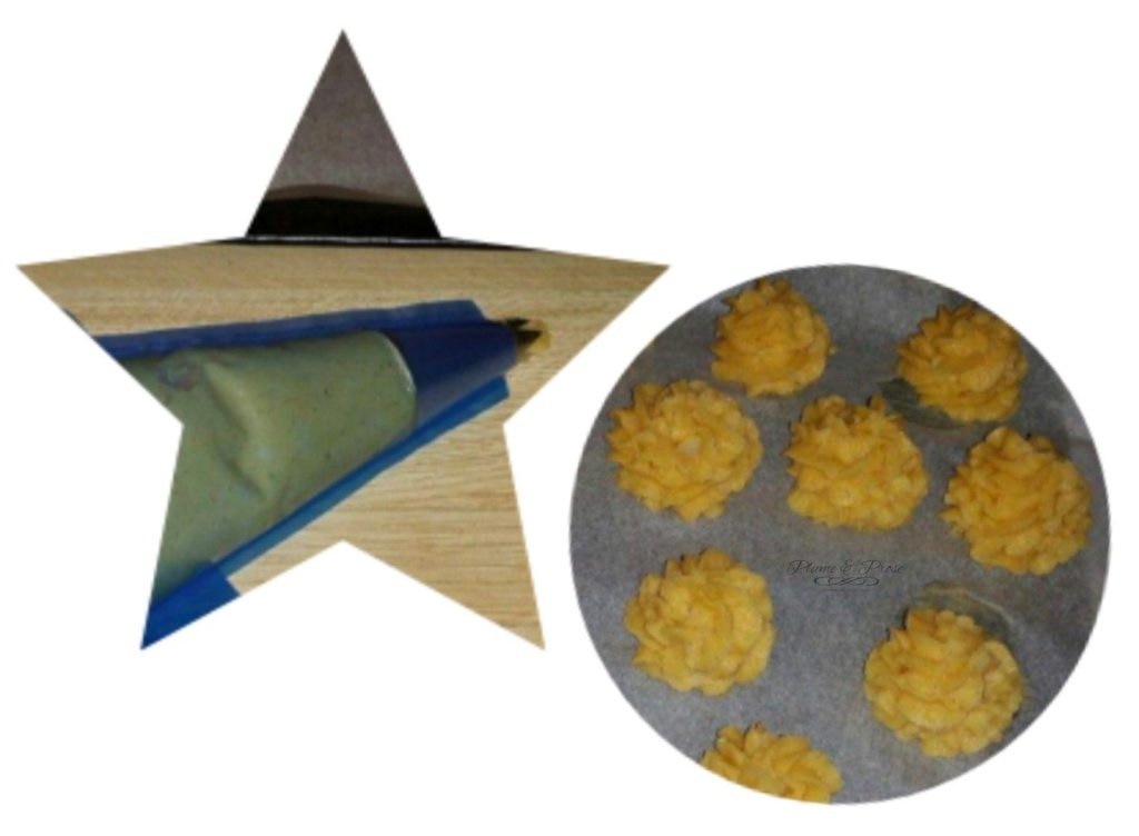 Préparation des pommes duchesse