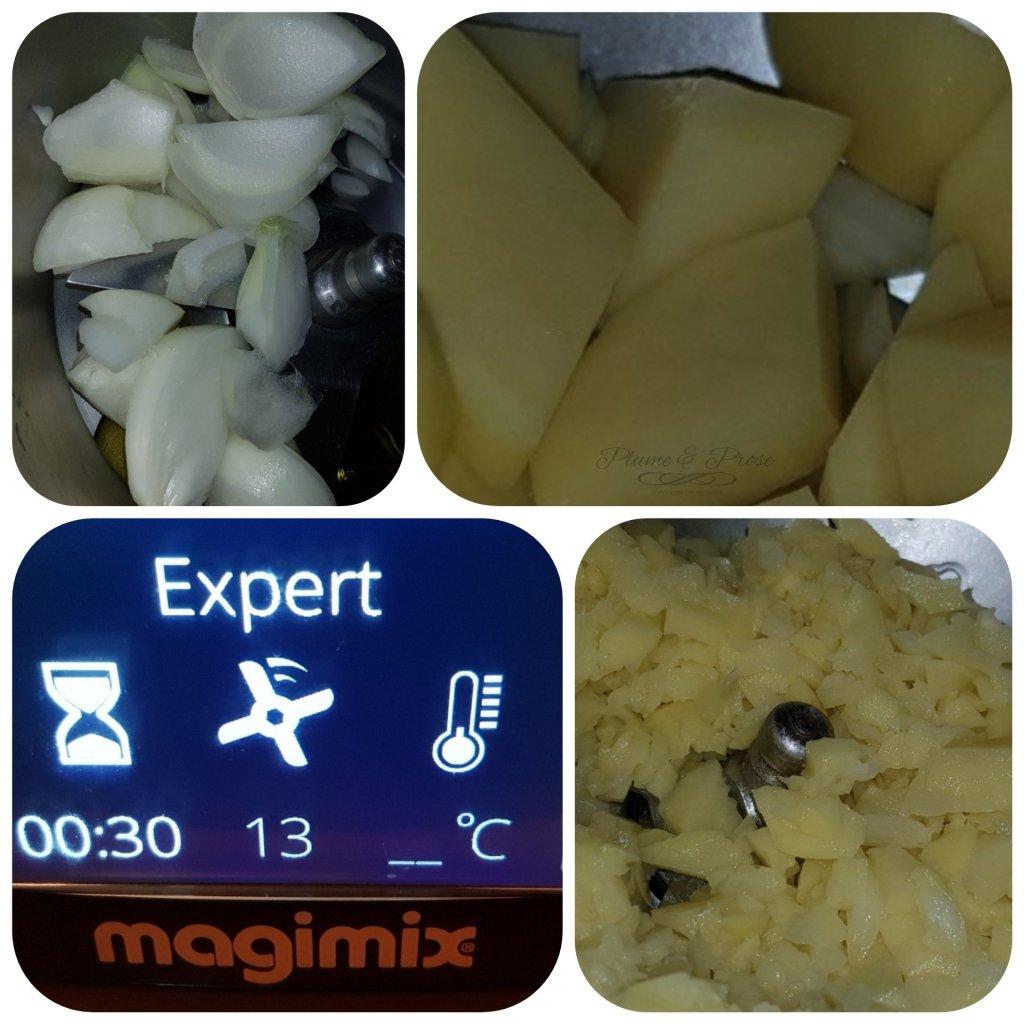 Préparation des gaufres de pomme de terre