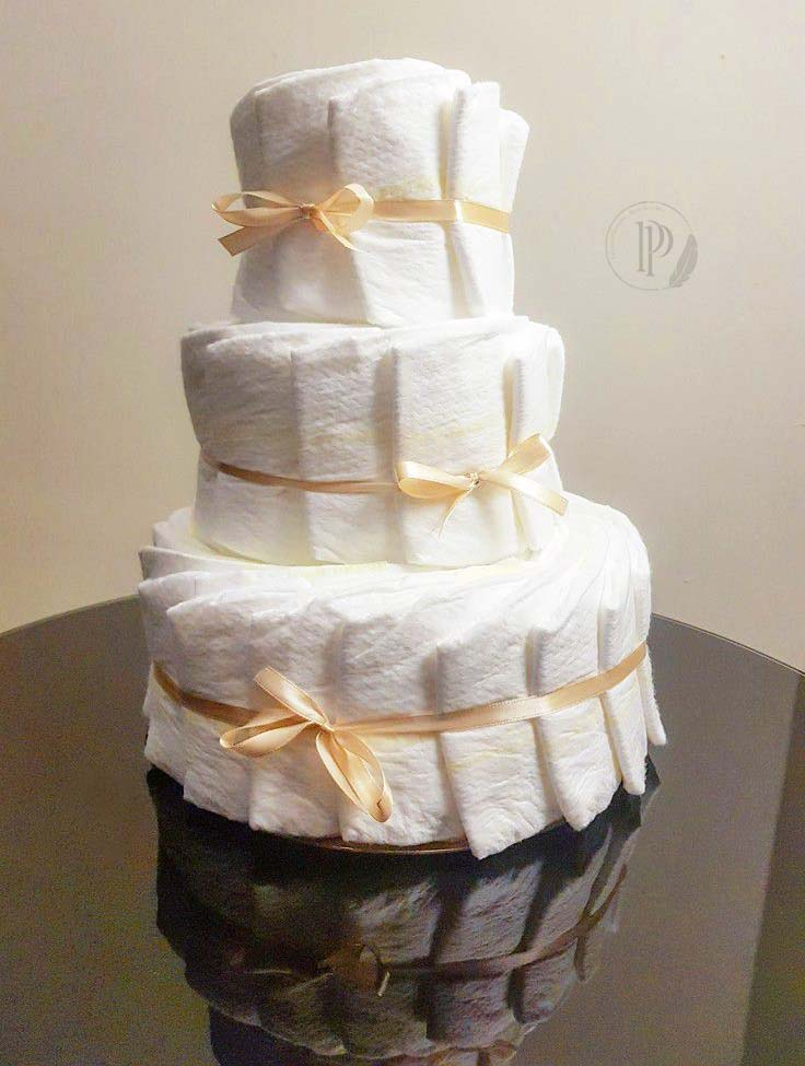 """Diaper Cake"" ou le Gâteau Couche à offrir"